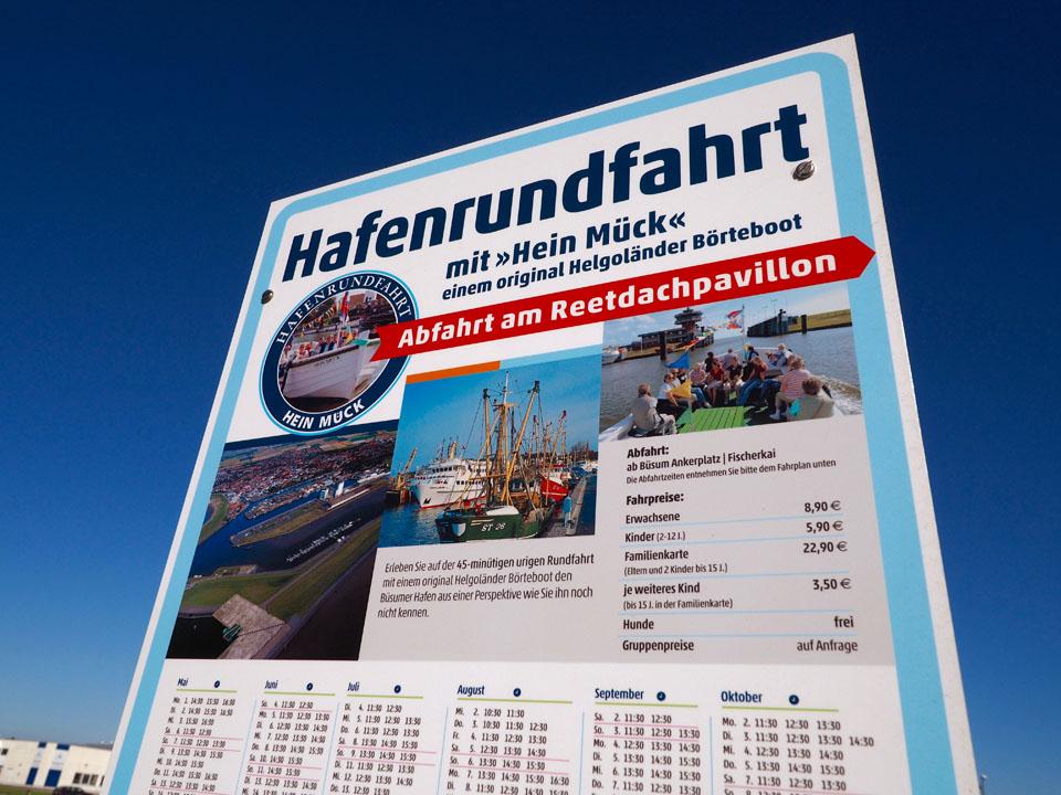 Hafenrundfahrt mit Helgoländer Börteboot in Büsum