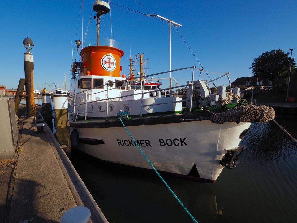 Rickmer Bock im Hafen Büsum
